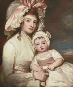George Romney   DALTON 1734 - 1802 KENDAL  PORTRAIT OF MRS. HENRY AINSLIE WITH HER CHILD   oil on canvas  30 by 25 in.; 76.2 by 63.5 cm.   Lot | Sotheby's