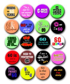 60th Birthday Frisky at Sixty Party Favors by PutOnYourPartyCap, $10.00
