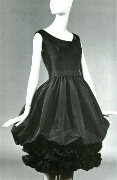 Silk faille cocktail dress designed by YSL for Christian Dior. Fall/winter collection 1959-60.