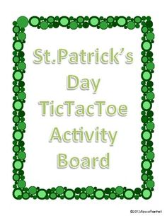 St. Patrick's Day TicTacToe Choice Board