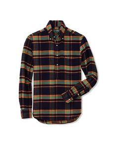 Gitman Vintage Men's Flannel Pull-Over Shirt