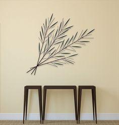 Metall Wandskulptur 'Immergrüne Zweige' 78x97x6cm