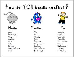 How do you handle conflict? mouse monster me