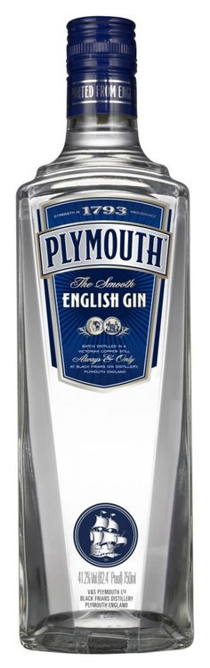 Plymouth Gin - 41.2%  Plymouth, England  www.plymouthgin.com