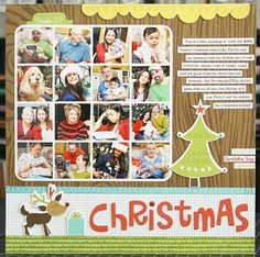 Very simple way to scrap a great day. A Project by Laura Vegas from our Scrapbooking Gallery originally submitted at PM Scrapbook Sketches, Scrapbook Page Layouts, Scrapbook Paper Crafts, Scrapbook Cards, Christmas Fun, Christmas Layout, Christmas Photos, Christmas Collage, Christmas Morning
