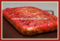 Rhubarb Upside Down Cake Recipe made with Bought Boxed Cake Mix