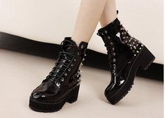Goth boots spikes