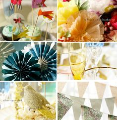 Party decor- more ideas for an upcoming shower...