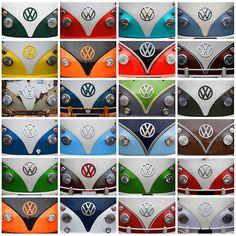 VW Camper Van Montage | Poster