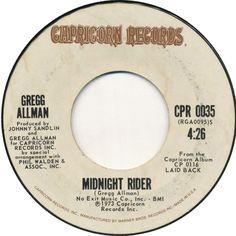 Midnight Rider, Greg Allman, Capricorn