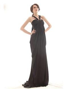 Beautiful Empire Halter Top Neck Floor-length Luba's Prom Party Dress