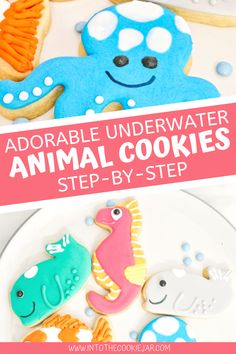 Colorful Cookies Recipe, Party Cookies Recipe, Animal Cookies Recipe, Cookie Base Recipe, Royal Icing Cookies Recipe, Cookie Recipes For Kids, Best Cookie Recipes, Cookie Ideas, Dessert Recipes