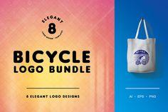 Bicycle Logo Bundle by lisamoon on @creativemarket