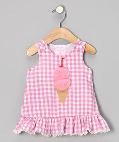 Pink Gingham Ruffle Dress - Infant & Toddler