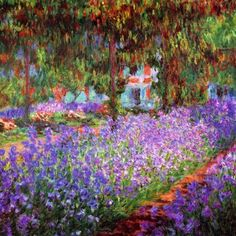 CLAUDE MONET .LE JARDEN