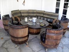 Barrique. Flooring idea to go with James' barrel table.