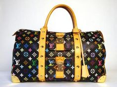 Louis Vuitton with edge!  http://www.malleries.com/louis-vuitton-black-multicolore-keepall-45-limited-edition-i-60581-s-2640.html