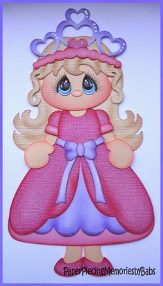Princess created by PAPER PIECING MEMORIES BY BABS for scrapbook pages. Pattern by Cuddly Cute Designs