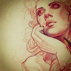 Sketch by Tattoo Artist Justin Hartman Face Sketch, Drawing Sketches, Art Drawings, Sketching, Illustrations, Illustration Art, Flash Art, Drawing Reference, Graphic