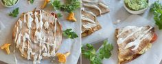 Kantarelli-quesadilla