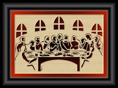Scroll Saw Patterns :: Religious & Inspirational :: Other projects - Last Supper Photo, Last Supper Art, Scroll Pattern, Scroll Saw Patterns, Wood Patterns, Pyrography Patterns, Diy Crafts How To Make, Wooden Crosses, Easter Projects