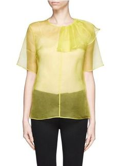 0524474ec87cc5 MSGM - Side bow organza top