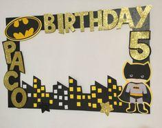 Custom Photo Frame Batman PhotoBooth Party Birthday Superhero Decoration - Be Batman - Ideas of Be Batman - Batgirl Party, Lego Batman Party, Superhero Birthday Party, 6th Birthday Parties, Batman Birthday Cakes, Birthday Ideas, Foto Batman, Batman Batman, Marcos Para Fiestas