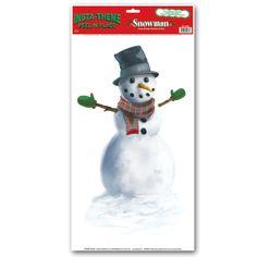 Snowman Peel 'N' Place Sticker