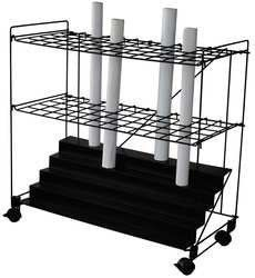 Dakota Designs 5CRX1 Mobile Roll File, 60 Compartments by Dakota. $170.29. Roll File, Mobile, Number of Compartments 60, Height 32-3/8, Width 34, Depth 15, Tube Size 2 1/2 sq. in., Construction Wire, Color Black, Finish Powder Coat, Caster Type Swivel, Number of Casters 4, Caster Dia. 2