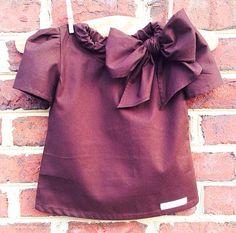 Teddy Bear - Girls Fashion Shirt - Large Bow - Kids Fashion on Etsy, $26.99