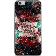 Space Roses iPhone case ($20) ❤ liked on Polyvore featuring accessories, tech accessories, iphone cover case and iphone sleeve case