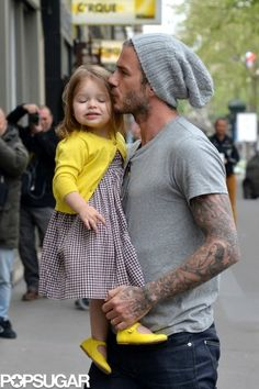 Stop it!! David and Harper Beckham are too cute...click for more!