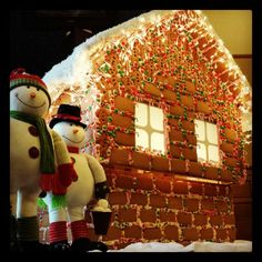 Check out Indiana's Largest Gingerbread House within the Ballroom of Tippecanoe Place Restaurant in downtown South Bend, IN