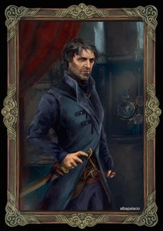 Corvo Attano -The Royal Protector, Alba Palacio on ArtStation at https://www.artstation.com/artwork/lZW4a