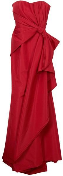 Carolina Herrera Strapless Taffeta Gown - This is the second red dress that Becca wears. Simple, understated, but still very sexy.