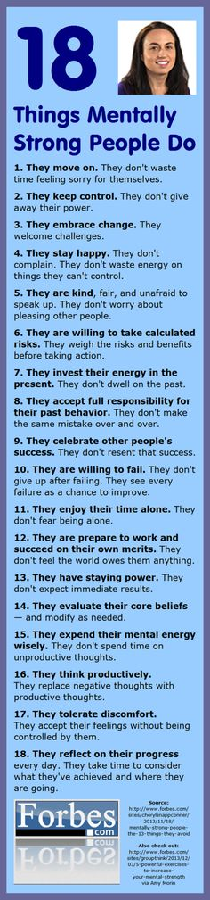 18 Things Mentally Strong People Do | Infographic A Day