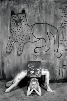Roger Ballen makes some pretty freaky art. You probably remember his black and white photo of the thick-necked, large-eared twins from just about every single photo compilation book published over the past 20 years. Recently Ballen released a book, titled <i>I Fink You Freeky</i>, that features a bunch of pictures of Die Antwoord posing in front of his artwork and installations.