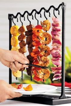This Skewer Station makes for easy outdoor entertaining!