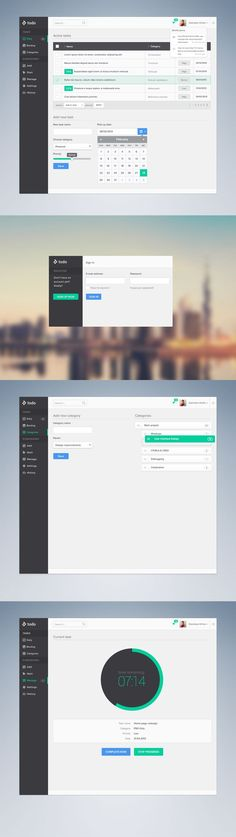 This is a clean layout to something that I would want to interpret on my application, when it comes to planning out tasks for the month. I love the time remaining counter , I plan on adding somethin Web Design Trends, Ux Design, Intranet Design, Flat Design, Dashboard Interface, Web Dashboard, Ui Web, Dashboard Design, User Interface Design