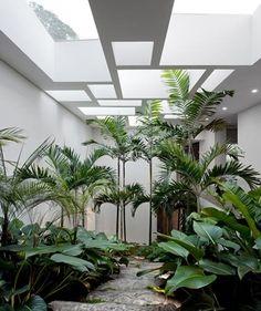 Merveilleux Indoor Garden Separates Living Room And Bedroom