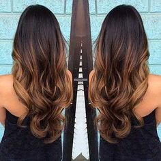 Dark Brown Long Ombre Hair