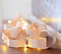 DIY Wood Veneer Paper Chain Fairy Light