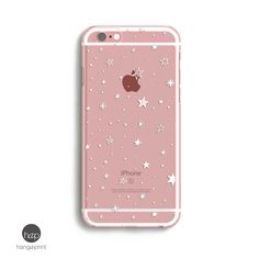 Transparent iPhone 7 Plus Case, Little Star, iPhone 6s Case Space, Clear iPhone 7 Plus Case, Cute iphone 6s case // iPhone 5, 6, 7 by hangAprint on Etsy #iphone6spluscase,