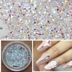 Find More Rhinestones & Decorations Information about 1Box 500Pcs Rhinestones Nail Art Glitter AB Color 3d Nail Jewelry Sharp Bottomed Micro Crystal Nail Decorations,High Quality nail decoration,China 3d nail jewelry Suppliers, Cheap nail jewelry from Cala Beauty Factory  on Aliexpress.com