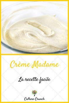 Madame Cream light and creamy cream Algerian Cookies Recipe, Cannoli Cream, Crunch Recipe, Greek Recipes, Relleno, Easy Desserts, Cookie Recipes, Food To Make, Sweet Tooth