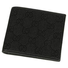 Gucci Black Denim Men's Wallet