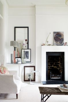 Living Room The room is personalised with matelpiece treasures, including an original pewter pilgrim's spoon. A...