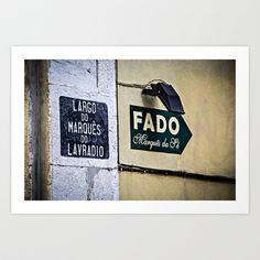 An alley in Lisbon Art Print by Elias Silva Photography - $16.00