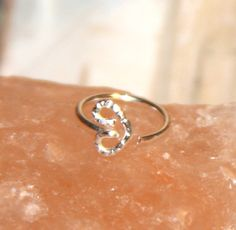 Small Nose Ring Valentine Heart Nose Rings Nose by BirchBarkDesign