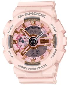 Wow I would love to have this watch love Diesel and G-shock watches. G-Shock Women's Analog-Digital Light Pink Bracelet Watch Casio G-shock, Casio Watch, Casio G Shock Watches, Sport Watches, Watches For Men, Analog Watches, Wrist Watches, Baby G Shock Watches, Breitling Watches